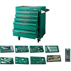 SATA 140 PC 5 Drawer Tool Trolley Set